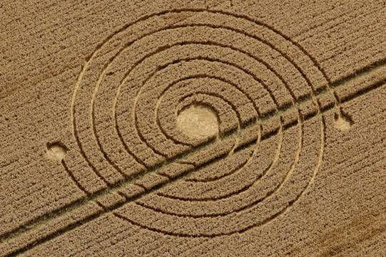 Crop Circle at Silbury Hill (2), Nr Avebury, Wiltshire, United Kingdom. Reported 8th August 2013
