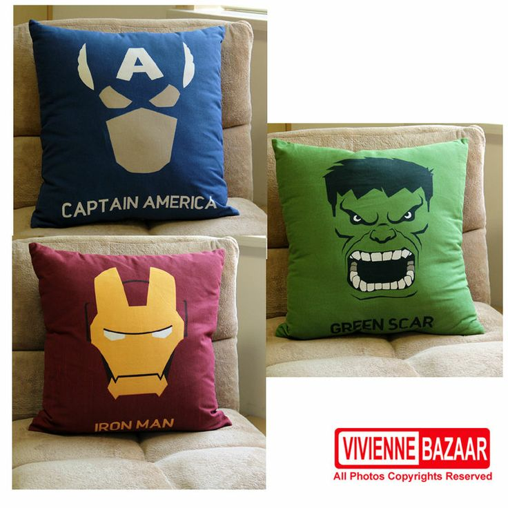 superhero Iron Man;hulk;Captain America cartoon series Avatar Pillow