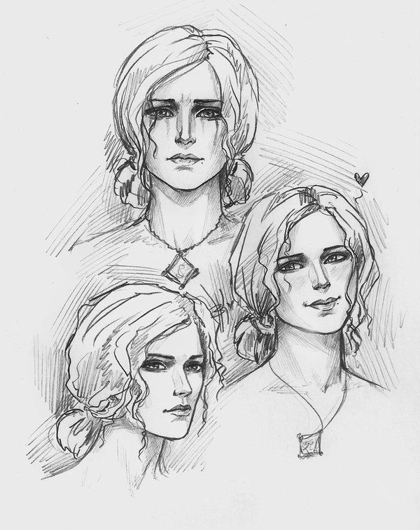 The witcher Triss Merigold sketch.