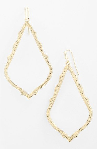 Free shipping and returns on Kendra Scott 'Marrakech - Sophee' Open Drop Earrings at Nordstrom.com. An intricate, gilded design enriches these scalloped statement-size earrings.