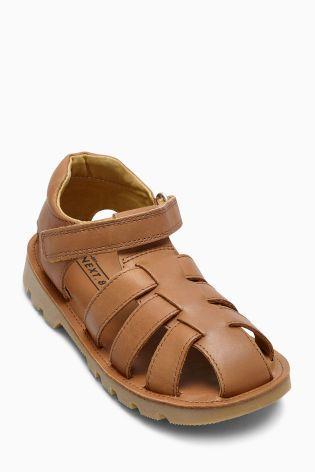 Fauve Sandales en cuir (Petit garçon)