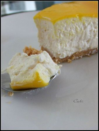 Cheesecake aux Agrumes, sans cuisson & sans gélifiant