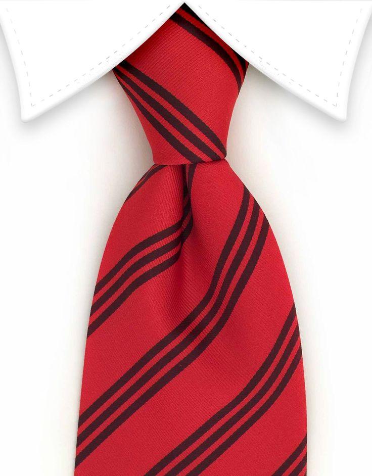 Black & Red Striped Tie