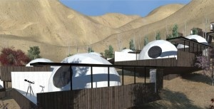 Stayed here in 2010...top opens and your view is a million stars at night.  Elqui Domos Astronomical Hotel - Valle de Elqui, in the Chilean Andes.  Designed by Rodrigo Duque Motta. Each room is an observatory and from the bed you can look up to the beautiful night sky full of stars.