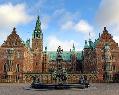 Frederiksborg Castle in Denmark. Built in the mid-1500's
