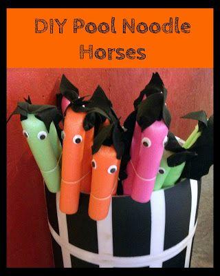 Faulkner's Ranch: DIY Pool Noodle Horses