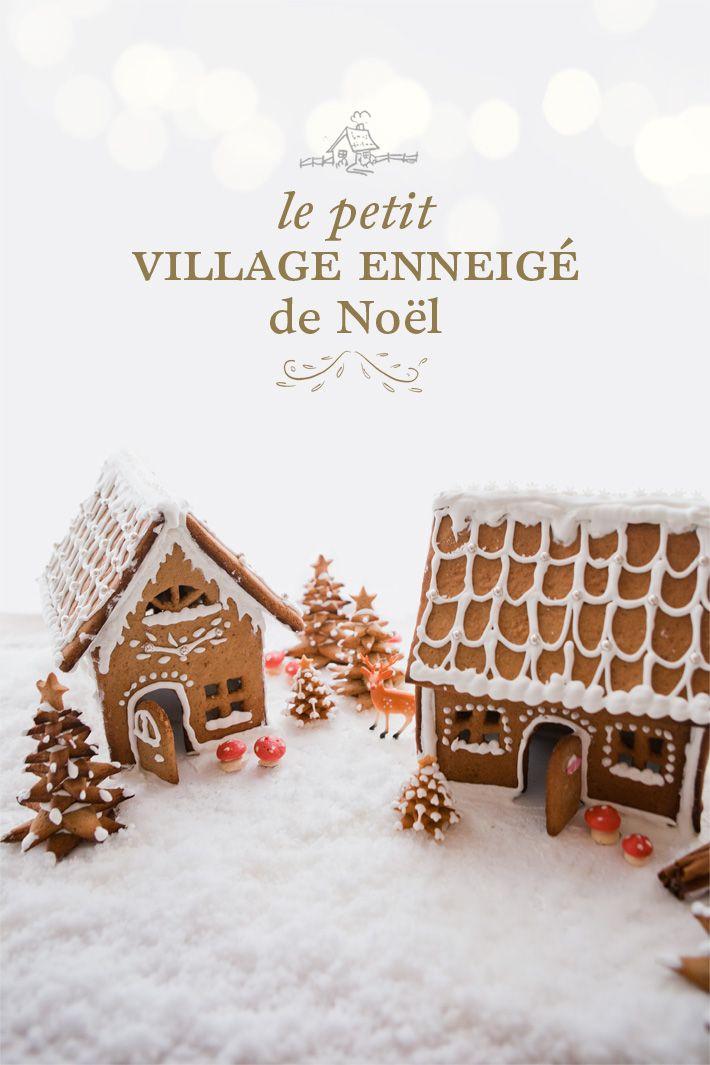 Le petit village enneigé de Noël