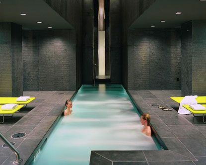 bathhouse spa, in mandalay bay.    a spa pass is approximately $30, or $65 for 3 days.  it includes sauna, whirlpools, relaxation lounge, gym, steam room and cold plunge. i think it'd be worth it to just do that, and opt for a massage back home (as they are about $200 here).