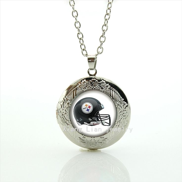 Ameran football bijoux locket necklace   team Football team helmets NFL team badge game men gift  NF111