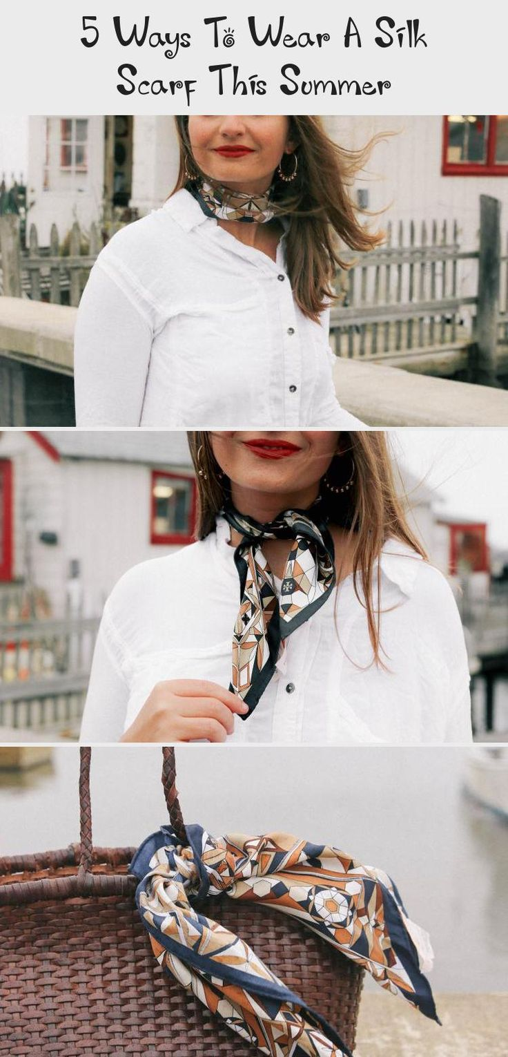 5 Ways To Wear A Silk Scarf This Summer - The Coastal Confidence, |The Coastal Confidence| |TCC| How to wear a silk scarf? How to style a silk scarf? How to have multiple ways to wear a scarf? #summerstyle #style #scarf #eastcoast #styleinspiration #preppy #blogger #summerhairstylesWaves #summerhairstylesForRoundFaces #summerhairstylesForSchool #Hotsummerhairstyles #summerhairstylesBoho