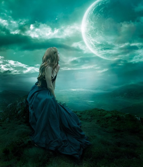 The moon beguiled her so much she had to watch it every single night and wept when it didn't show.