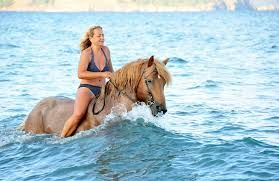 For horse lovers! Vlihada beach, Santorini island, Greece - selected by www.oiamansion.com