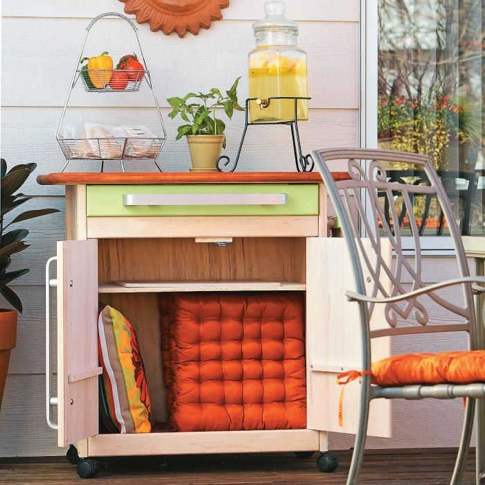 Outdoor Serving Cart Could Work Well As Grill Cart. Has Room For Large  Cutting Boards