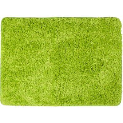 Tapis de salle de bain vert, dim. 70x50 cm, polyester et latex.