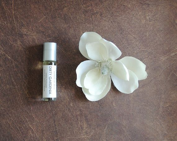 Dirty Gardenia Perfume Oil  Roll On Perfume Floral by ripeshop, $10.00