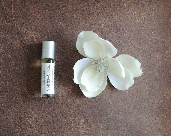 Dirty Gardenia Perfume Oil  Roll On Perfume Floral by ripeshop, $10.00