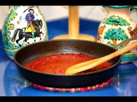 Como Hacer el Tomate Concentrado o Pasta de Tomate, Receta -