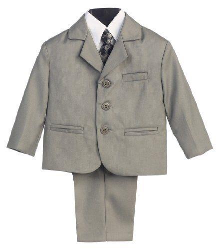 5 Piece Light Gray Suit with Shirt, Vest, and Tie - Size 3T Lito http://smile.amazon.com/dp/B0030XOW8K/ref=cm_sw_r_pi_dp_HFJzwb0PW10JC