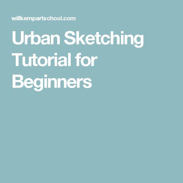 Urban Sketching Tutorial for Beginners