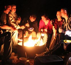 Love Camping? Get to know other travellers while sitting around the campfire! #tours #camping #travel