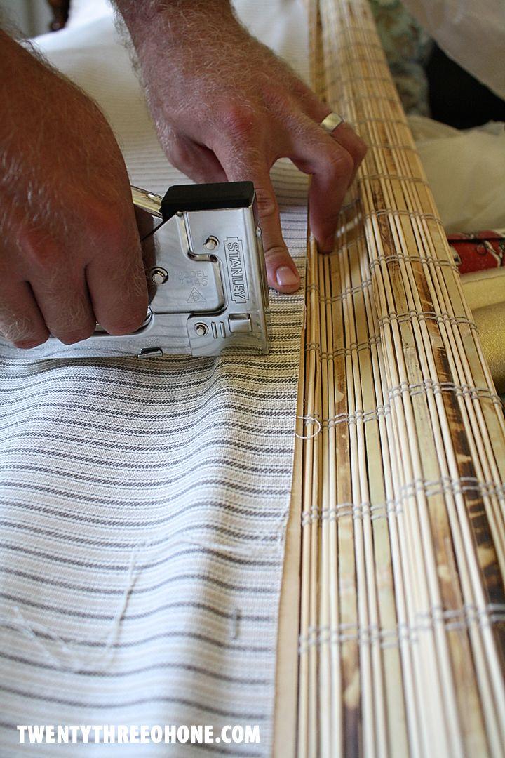 lining bamboo blinds via Twenty Three Oh One
