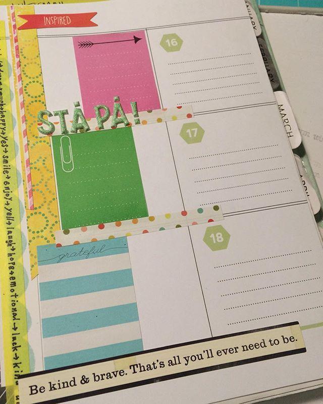 Da er det bare å planlegge uka  #planner #kalender #hobbykunstnorge #hobbykunst