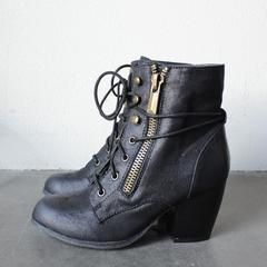 high road suede heel ankle boot (3 colors) - shophearts - 6