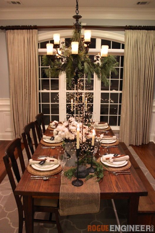 Southern Rustic Christmas Tablescape