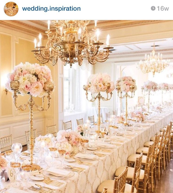 Gold Wedding Decorations: Luxe Glam Weddings In 2019