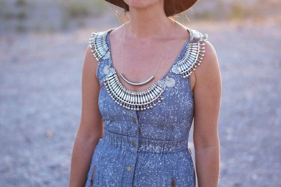 Bohemian Statement Necklace / Shoulder Harness by FiregypsyVintage