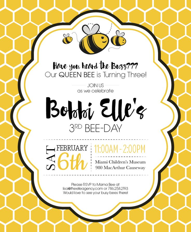 17 Best images about bubuyog party – Bumble Bee Party Invitations
