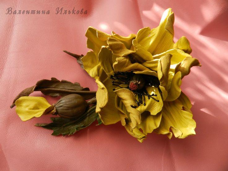 Gallery.ru / Фото #1 - Цветы из кожи, мой первый опыт и далее, - Valehcia
