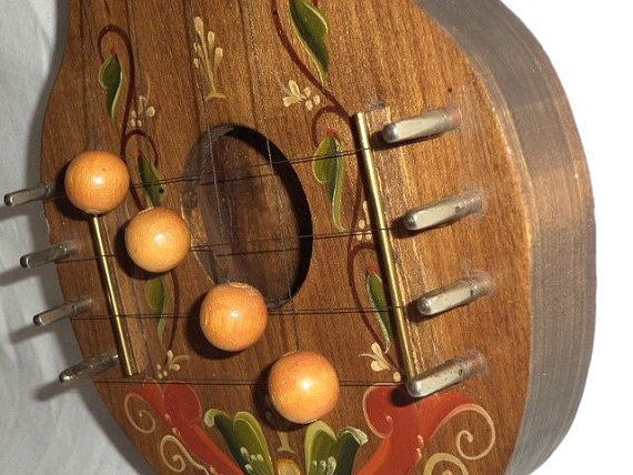 SOLD Vintage 80s handcrafted wood door chime harp by ...