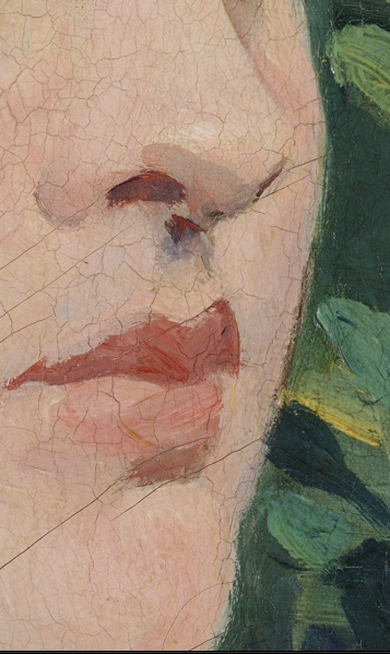 How to paint a nose?: Detail | Manet. I don't have flesh colored paints like this, but I can either try to mix some or use totally different new colors.
