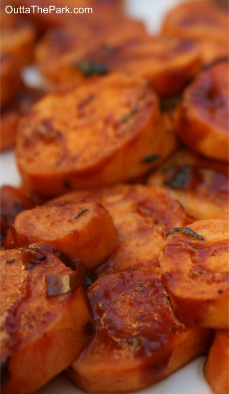 Oven-Baked BBQ Sweet Potatoes with Rosemary and Sage - easy and delicious way to enjoy sweet potatoes!