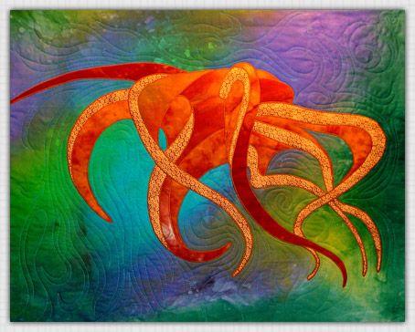 beautiful octopus quiltQuilt Artists, Fabrics Artists Quilt, Artists Marjan, Marjan Kluepfel, Artists Quilt Teachers, Google Search, Beautiful Octopuses, Octopuses Quilt Bi, Kluepfel Ткань
