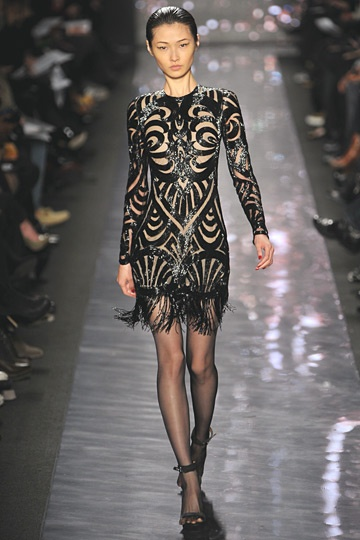 Naeem KhanBlack Scrollwork, Fashion, Khan, Fall 2012, Fall Winte 2012, Shorts Dresses, 2012 Ready, Fall Rtw, 2012 Rtw