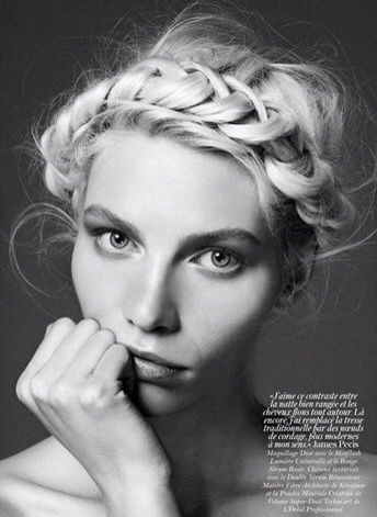 And best braid goes to...Milkmaid Braid, Hairstyles, Vogue Paris, Beautiful, Aline Weber, Hair Style, Braids Crowns, Crowns Braids, Braids Hair