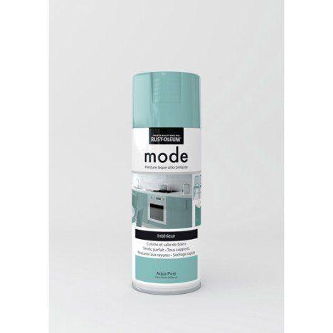 Peinture aérosol Mode brillant RUSTOLEUM, bleu aqua pure, 0.4 l
