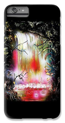 Dream Waterfall IPhone 7 Plus Case Printed with Fine Art spray painting image Dream Waterfall by Nandor Molnar (When you visit the Shop, change the orientation, background color and image size as you wish)