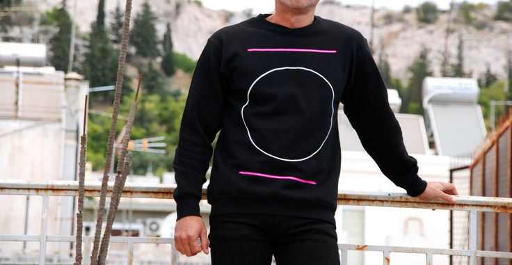 Sweatshirt Color: Black  80% Cotton  20% Polyester Design: Circle
