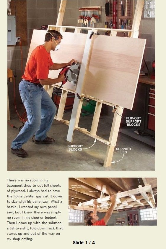 Fold-Down Cutting Rack | WoodworkerZ.com