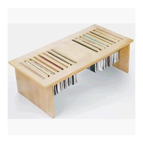 magazine holder coffee table... diy maybe use old window shutters ..