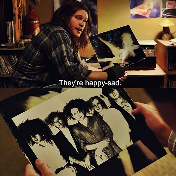 """Sing Street, 2016 """" - What does happy-sad even mean? How can we be both things? It makes no sense. - It means that I'm stuck in this shithole full of morons and rapists and bullies, and I'm gonna deal with it, okay? It's just how life is. I'm gonna..."""