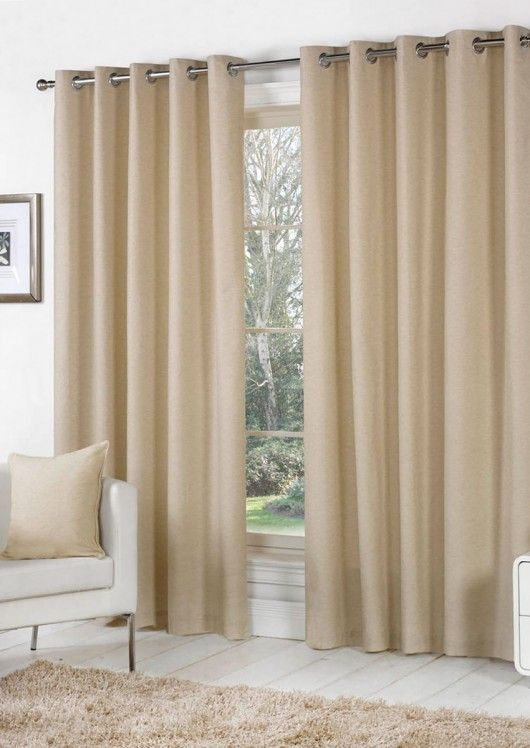 Sorbonne Natural Eyelet | Curtains.com