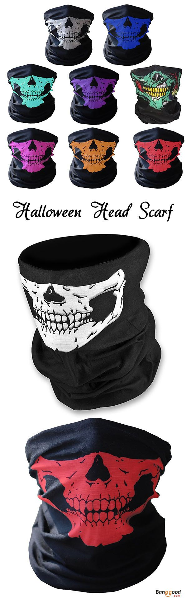 US$2.21 or US$3.99 + Free shipping. Multifunctional Seamless Changed Magic Scarf Halloween Costumes Skull Head Scarf Mask Multi Color. Halloween gifts, creative  gifts, perfect for the coming festivals!
