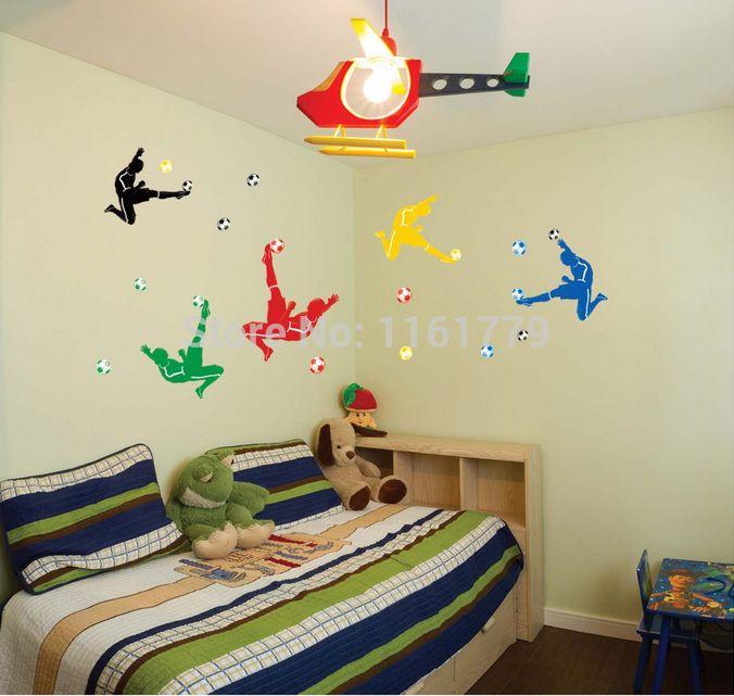Large size 140x80cm Kids Football Boots Wall Stickers Home Decor DIY Adesivo de Parede beat.headphones Decoration sticker JM7273
