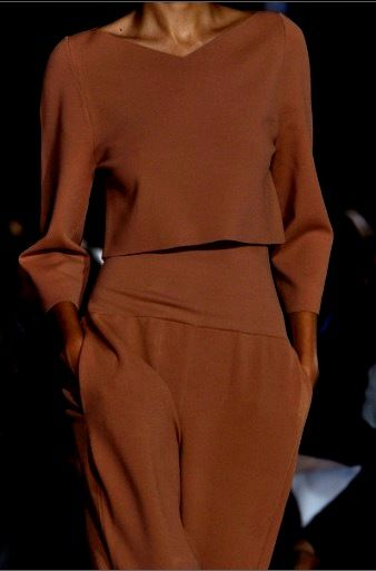 Gorgeous brown outfit | Stella McCartney 2014