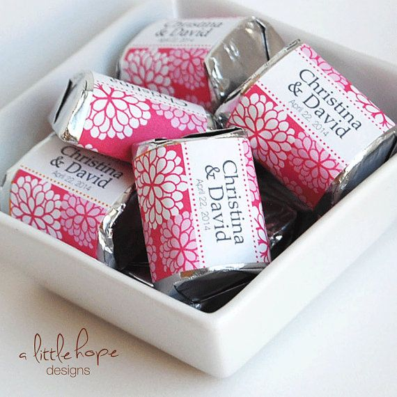 custom candy wrappers templates - personalized hershey nugget labels wedding shower