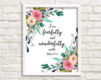 You Are Fearfully and Wonderfully Made by SweetLittleOnesShop
